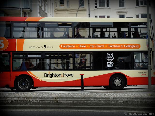 Bus at Bus-stop near Royal Pavilion, Brighton, UK