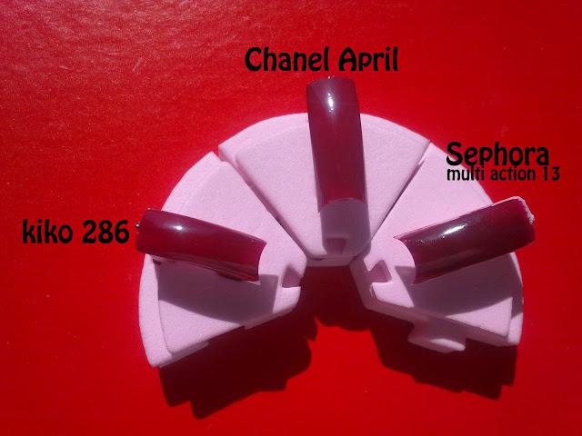 kiko 286 e sephora 13 - dupe di april chanel