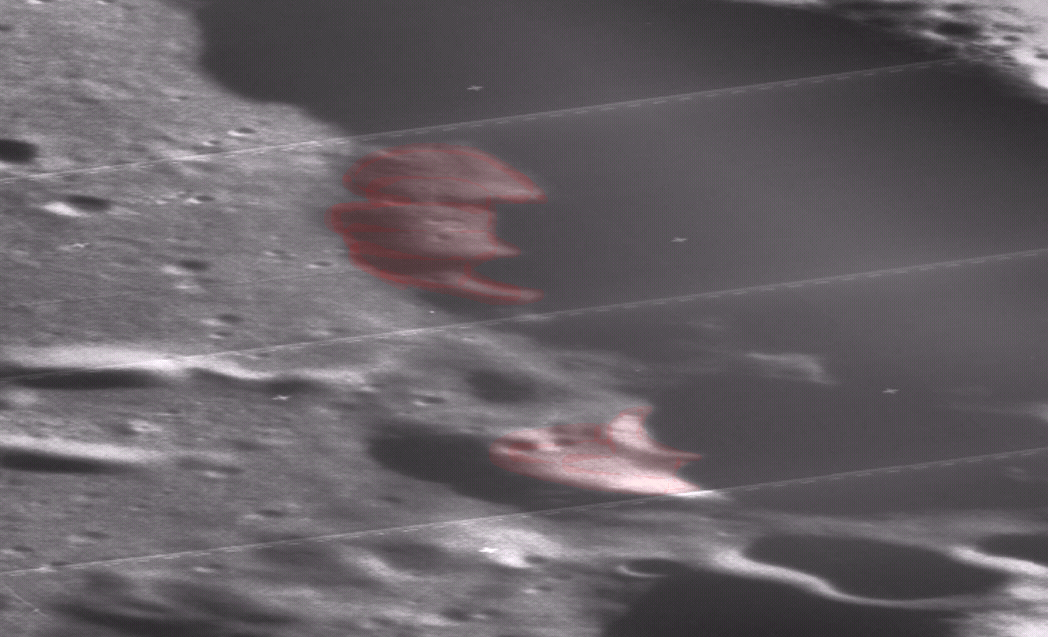 Ufos in crater: another baltic sea ufo discovered but on the moon