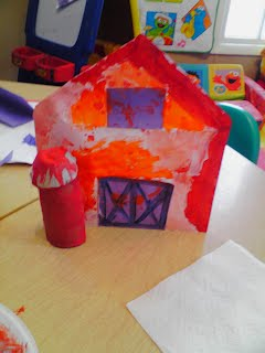 Big Red Barn Activity Craft for preschool kids Margaret Wise Brown Farm Fun Cow