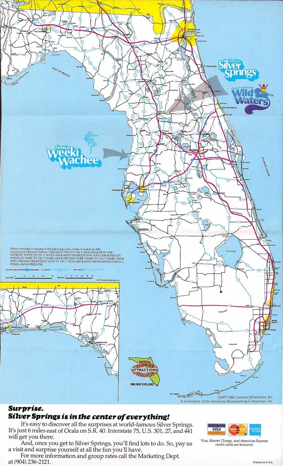 QuasiInteresting Paraphernalia Inc Floridas Silver Spings - Florida map state parks