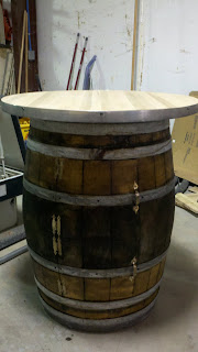 how to cut a wine barrel door