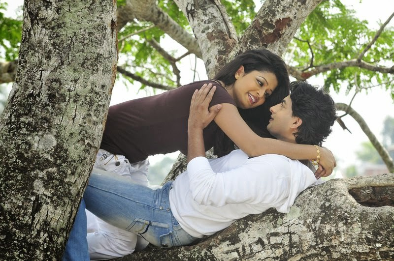 Sri Lankan Actress on the tree