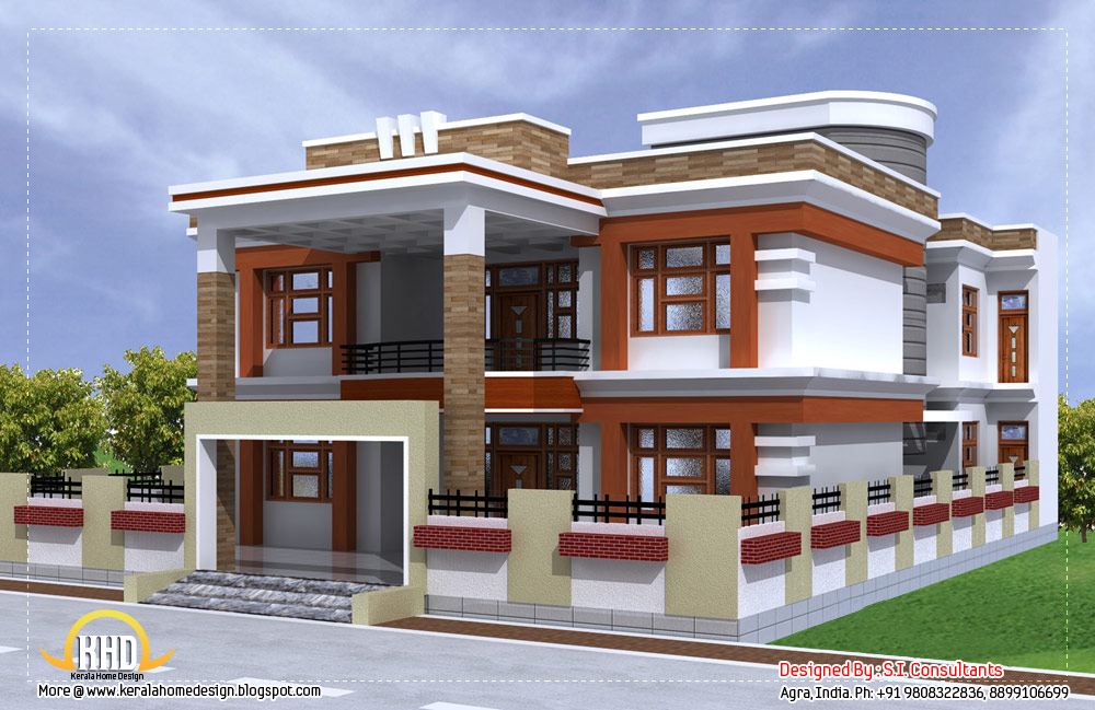 3350 sq ft beautiful double story house with plan home Small double story house designs