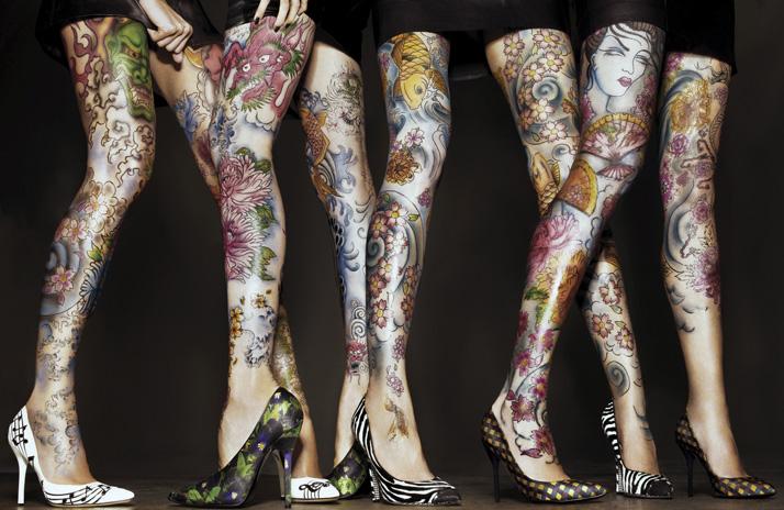 High Heel Tattoo Designs