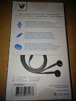 V7 In Ear Kopfhörer im comfort-fit Design mit Mikrofon, Fernbedienung, extra flaches ultraleicht Kabel, Headset für Smartphones und Tablets, blau
