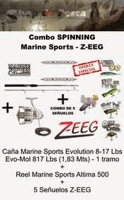 Combo de Spinning Marine Sports Z-EEG