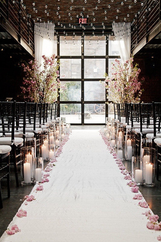 Getting the wow factor at your wedding design ideas for for Aisle decoration