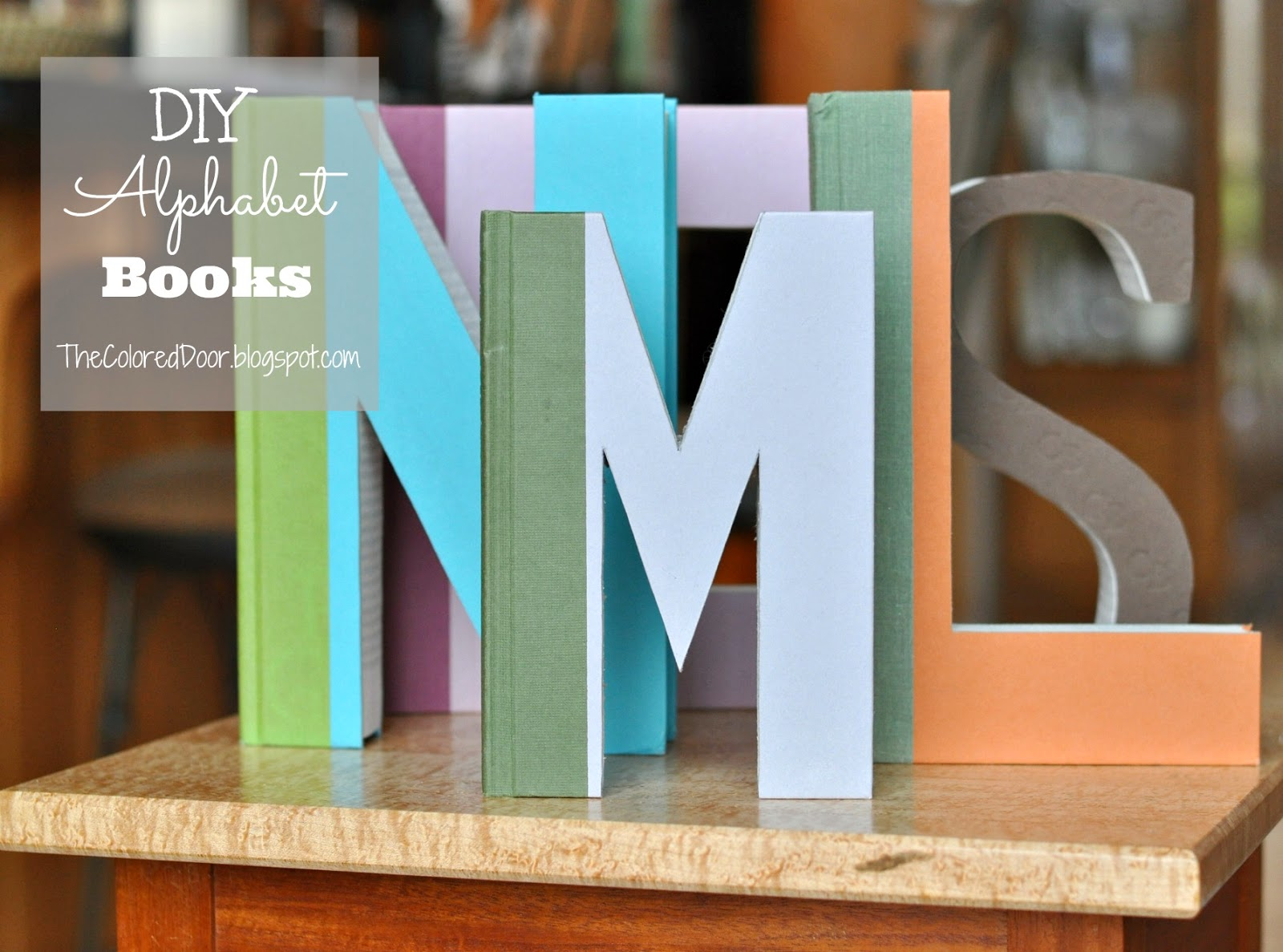 DIY Alphabet books - The Colored Door