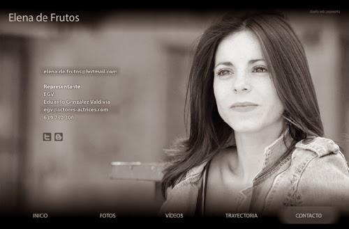 página web de la actriz Elena de Frutos