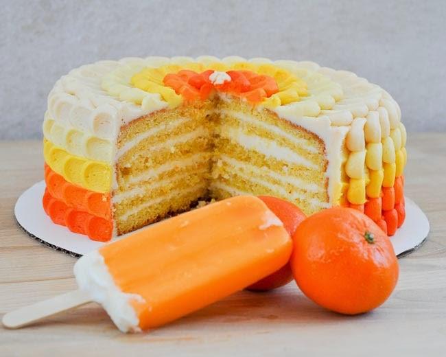 Orange And Cream Cake Recipe — Dishmaps