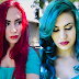 Red to Teal Hair Without Bleaching