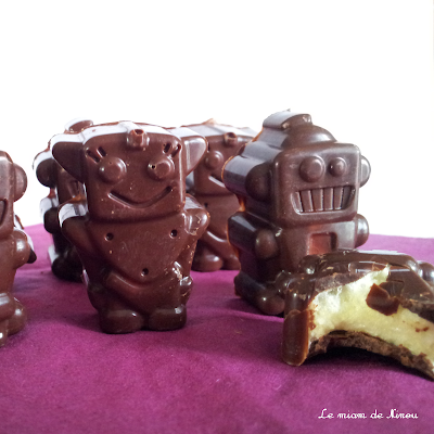 Illustration des guimauves à la vanille enrobées de chocolat