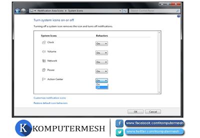 Cara menonaktifkan (disable) Security Alert Windows 7