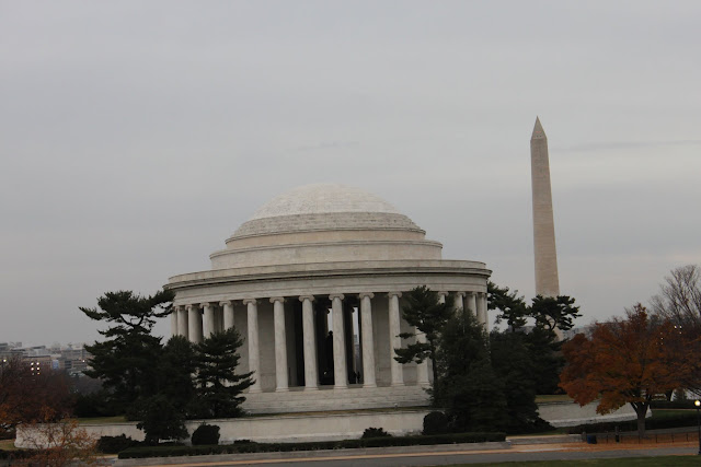 Thomas Jefferson Memorial is situated within Tidal Basin in Washington DC, USA