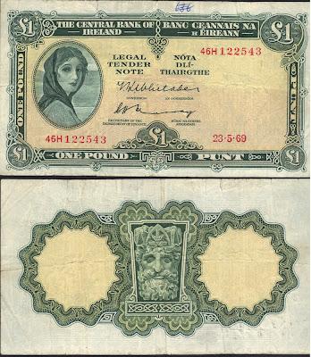 Repubblica d'Irlanda 1 Pound 1969 P# 64b