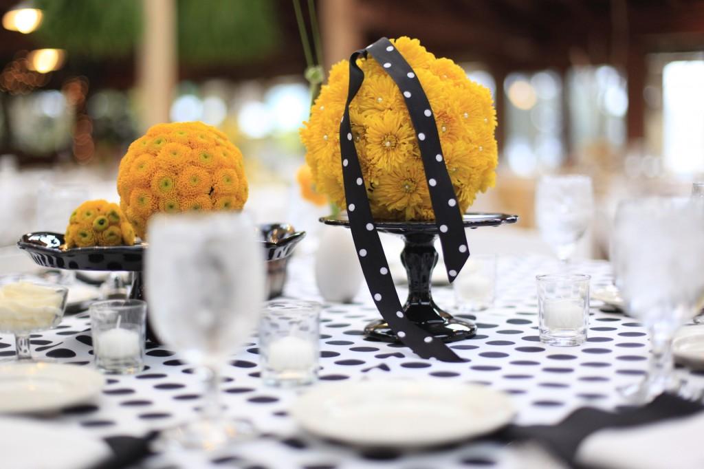 decoracao branco amarelo : decoracao branco amarelo:Decoração de Casamento nas cores Preto, Branco e Amarelo