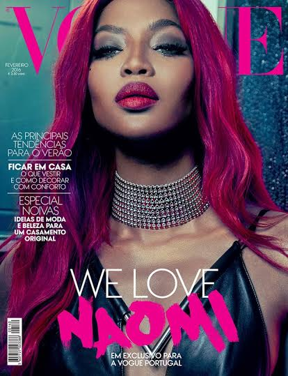 Naomi Campbell Supermodel goes super glamorous for Vogue Portugal Feb. 2016 cover feature 3