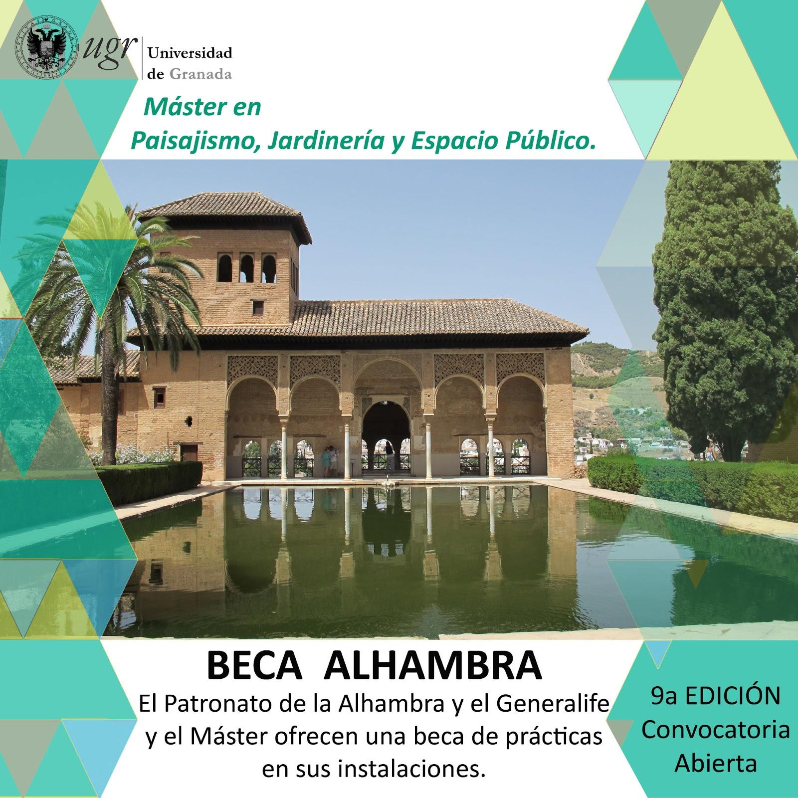 M ster en paisajismo jardiner a y espacio p blico granada beca alhambra - Master en paisajismo ...