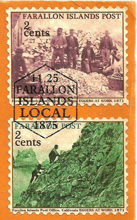 EARLY CALIFORNIA FANTASY LOCAL POST STAMPS