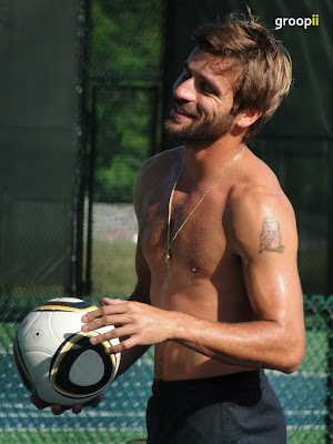 Arnaud Clement Shirtless at Cincinnati Open 2010