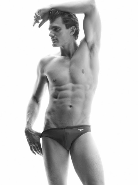 Peter Johnson wearing speedos by Paul Reitz