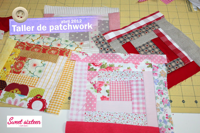 Taller Iniciación patchwork, sweet sixteen, craft store. Abril. Madrid.