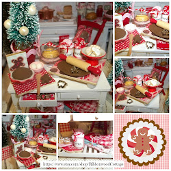 Miniature Gingerbread Baking Table