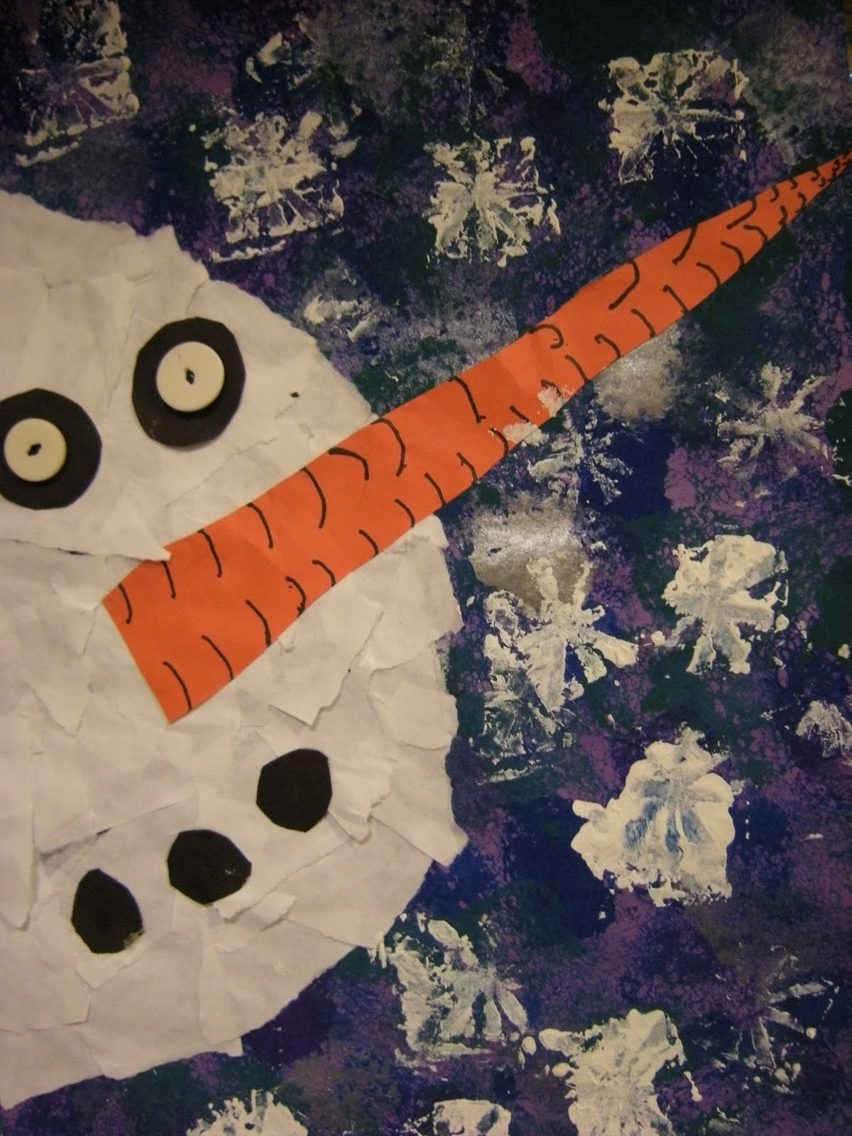 Classroom Ideas For January ~ What s happening in the art room st grade snowmen