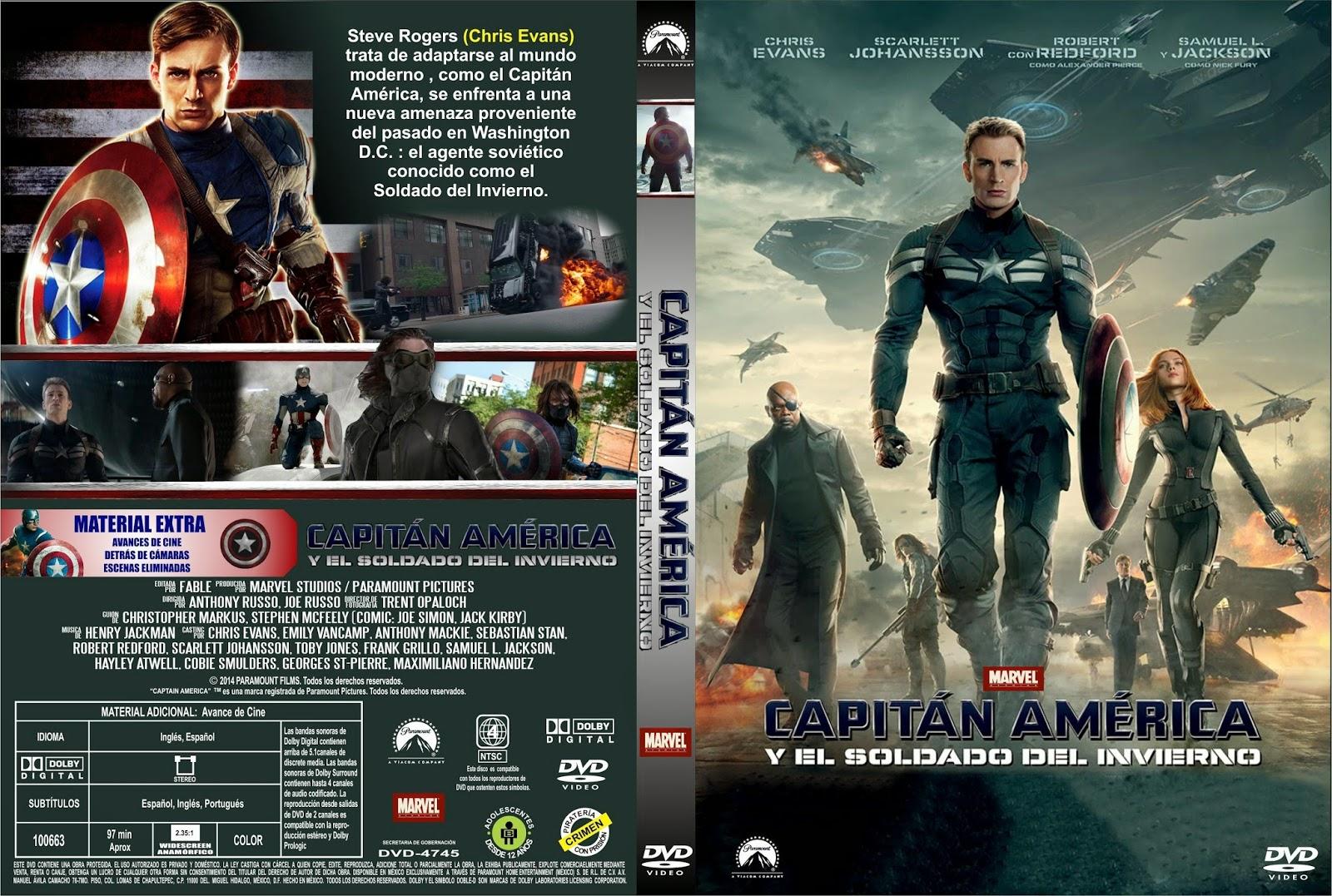 Capitan America El Soldado De Invierno DVD