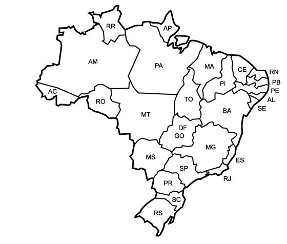 baú da web mapas do brasil para imprimir e pintar