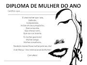 DIA DA MULHER (11 DIPLOMAS)8 DE MARÇO