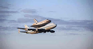 SPACE SHUTTLE DISCOVERY DEPARTS KENNEDY SPACE CENTER