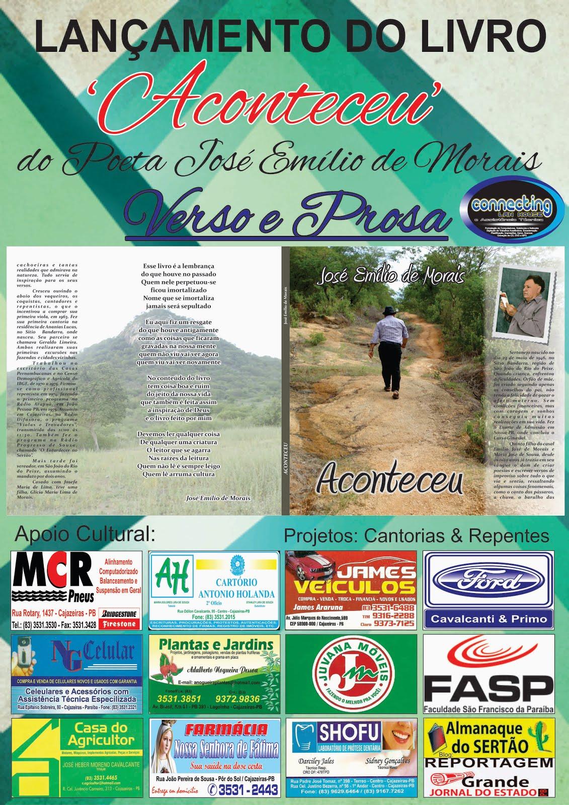 LANÇAMENTO  DO LIVRO   ACONTECEU  DE ZE  MORAES