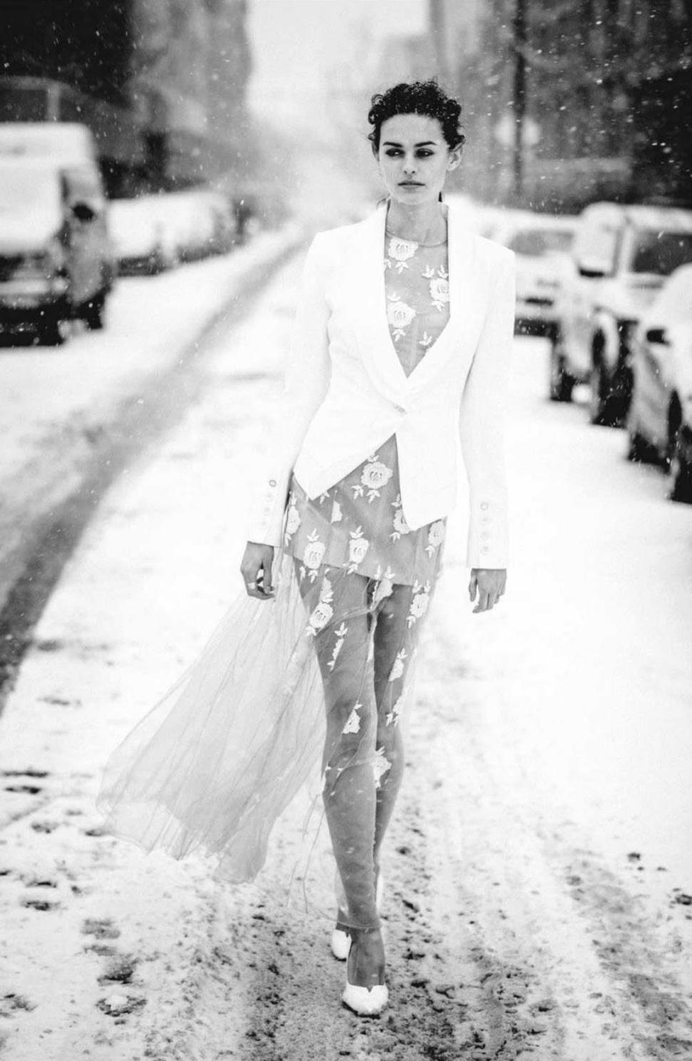Jenna Klein Duplanty wearing Blumarine lace dress in Amica Italy March 2014 (photography: Jean-Francois Campos, styling: Masha Orlov) via fashioned by love british fashion blog