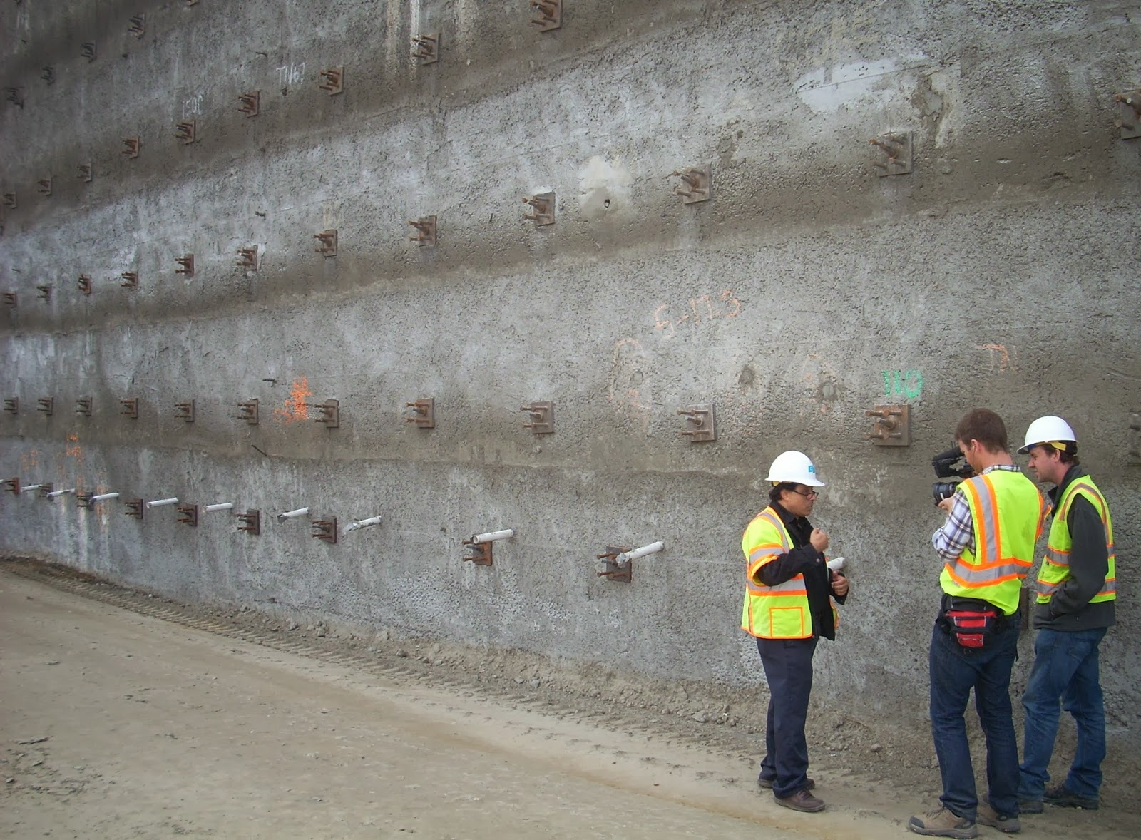I 5 truck lane project to be featured in discovery channel for Soil nail wall