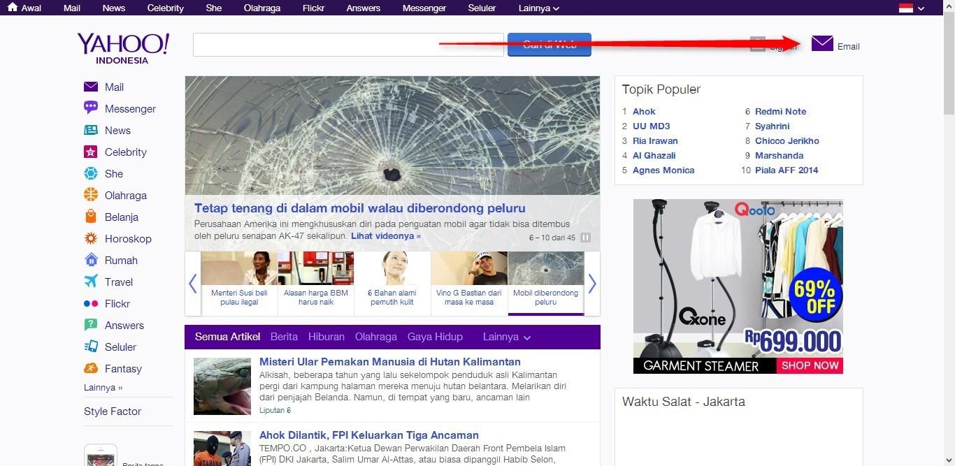 Cara Membuat Email Yahoo!