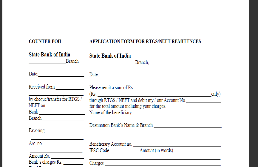 canara bank neft form download