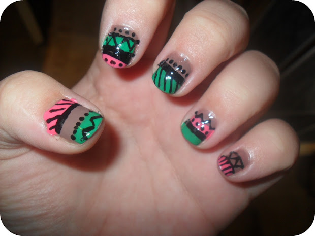 launa in ponderland aztec nails