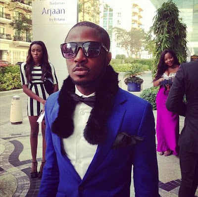 Tunde Ednut at 2face's wedding