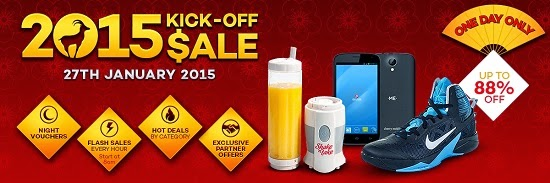 Lazada starts 2015 with a Chinese New Year Kick-Off Sale happening this January 27!