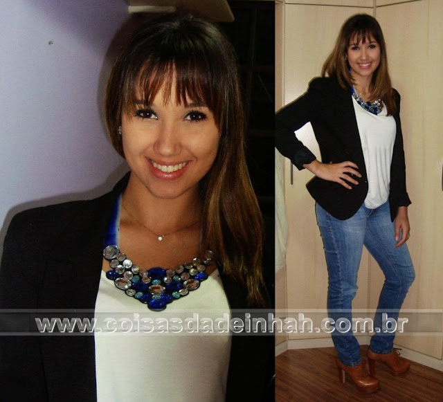look bsico maxi colar jeans blazer inverno