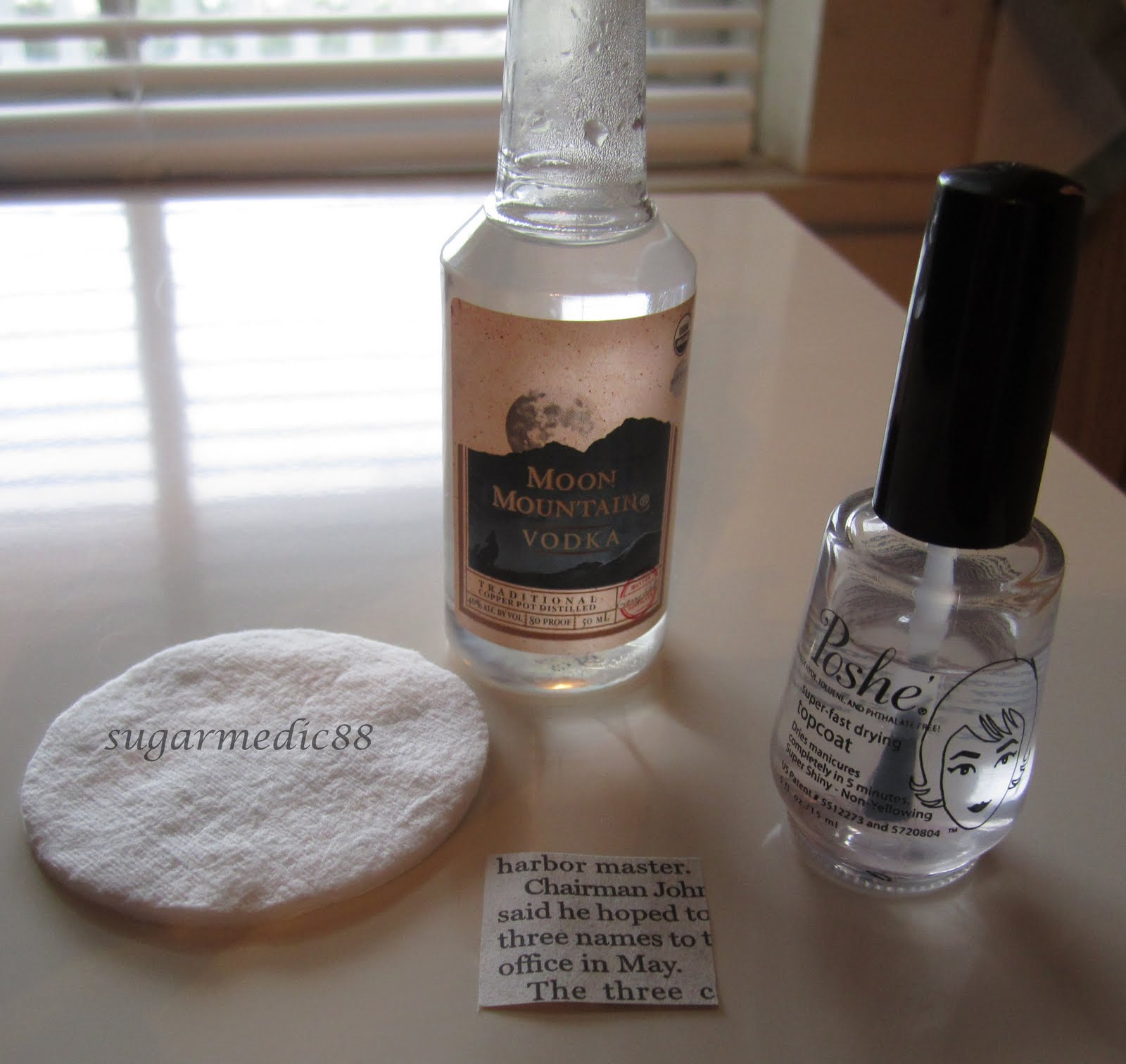 The Polished Medic Newspaper Nails With Tutorial Alternative Method