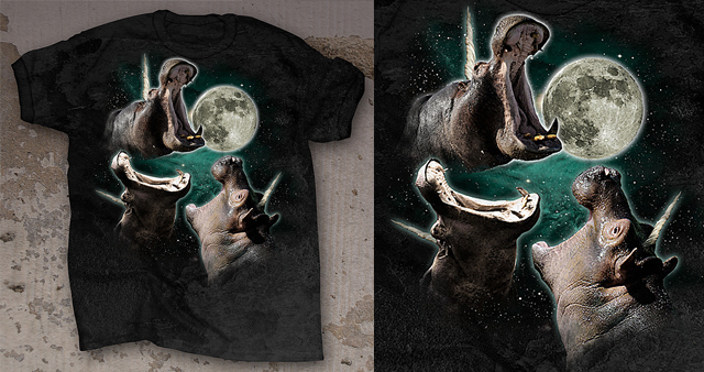 The 3 Hippopoticorn Moon T-Shirt