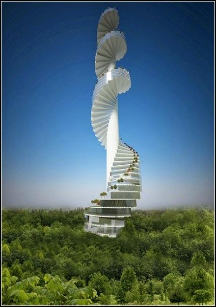 spiral stairs design in new York, stairscraper, Nabito
