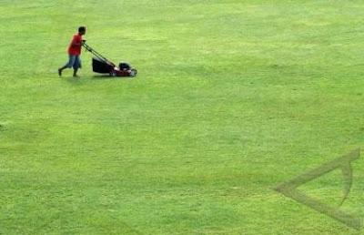 perawatan lapangan sepak bola