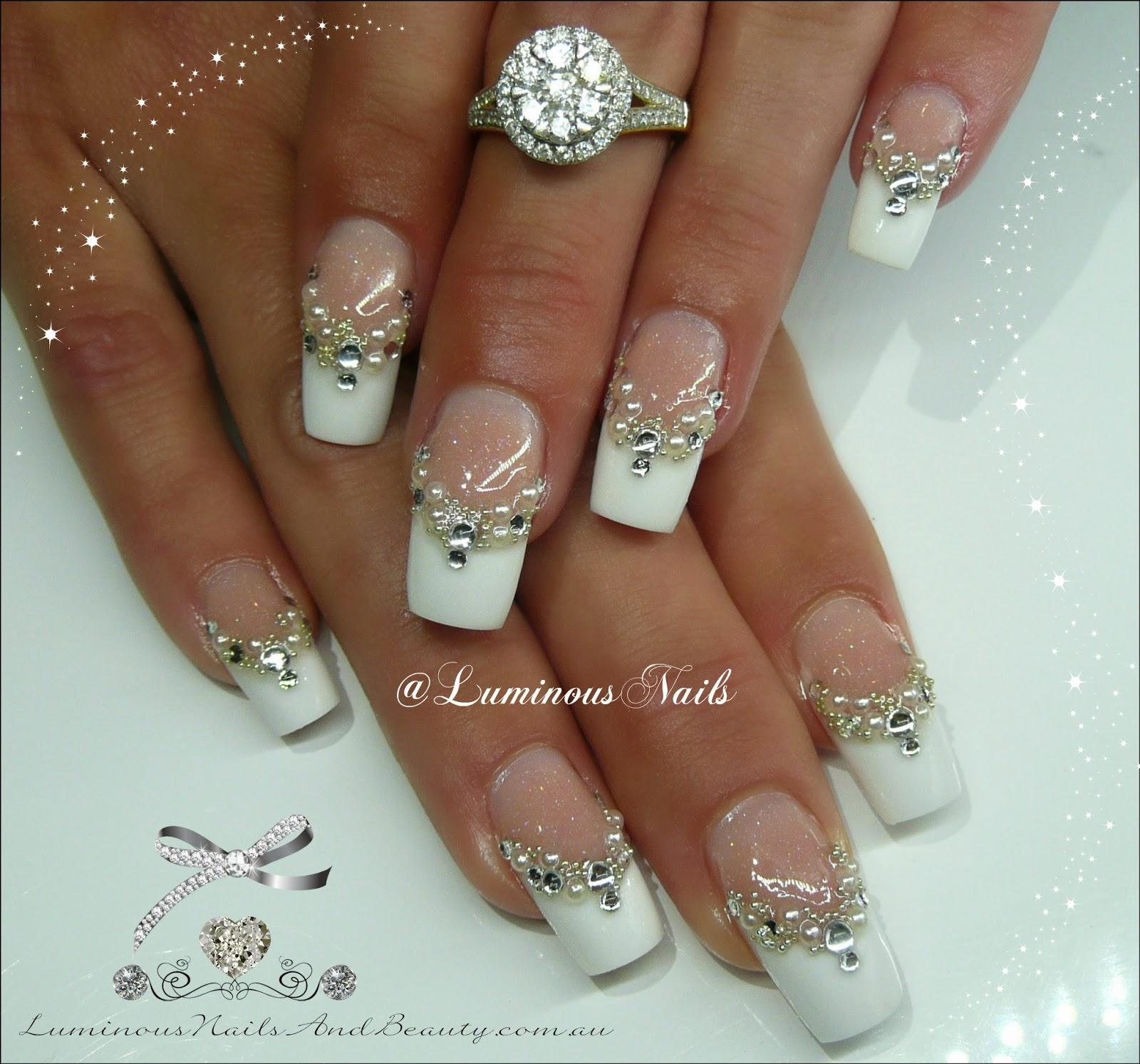 Acrylic Nail Designs For A Wedding: Wedding nails design ideas with ...