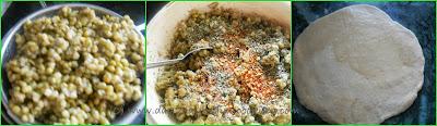 second steop of making moongdal paratha
