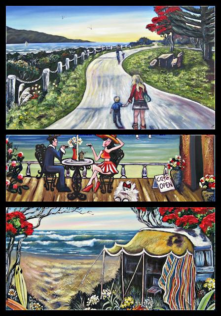 three paintings by sonia savage