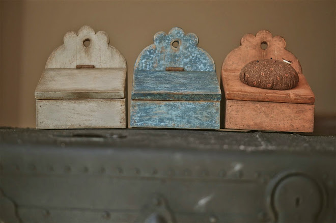 Little Storage Box in putty and blue (ALL SOLD)  **CAN BE ORDERED**
